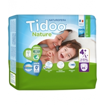 23 Couches Single Pack (T4+/L+) 9/20kg - Tidoo