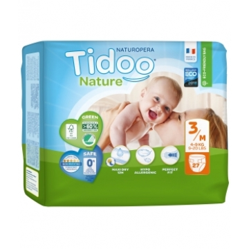 27 Couches Eco Single Pack (T3/M) 4/9kg - Tidoo