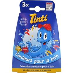 3 pastilles pour le bain Bleu Jaune Rouge - Tinti
