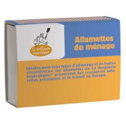 4 boîtes 100 allumettes FSC Mixte - Droguerie Ecologique