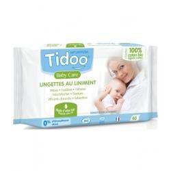 40 Lingettes au liniment à l'huile d'olive et coton bio - Tidoo
