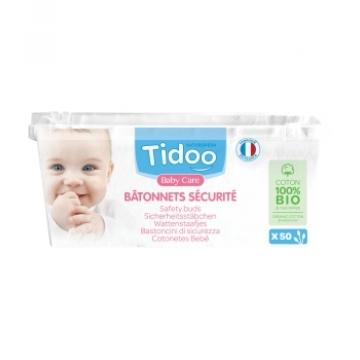50 Bâtonnets sécurité Coton bio TidooCare - Tidoo