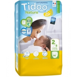 58 Couches Jumbo Pack (T2/S) 3/6kg - Tidoo