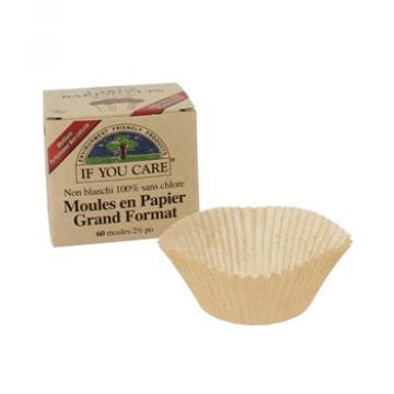 60 Moules en papier non blanchi et 100% sans chlore - If You Care