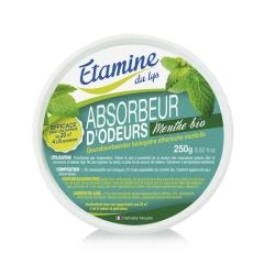 Absorbeur d'odeurs à l'huile essentielle de menthe bio 250gr - Etamine du Lys