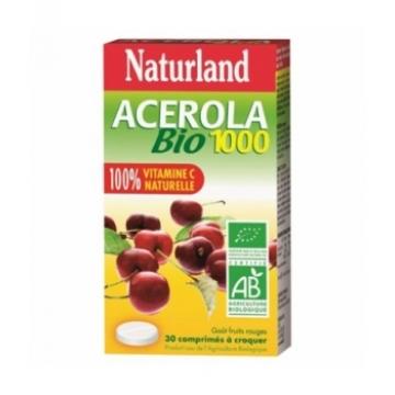 Acérola 1000 Bio 30 comprimés à croquer - Naturland