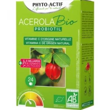 Acérola Probiotil à partir de 6 ans 24 comprimés - Phyto-Actif