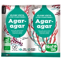 Agar Agar bio Gélifiant alimentaire végétal  8g - Natali Aromatic provence