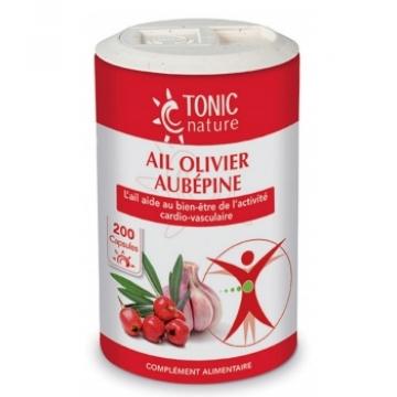Ail + Olivier + Aubépine 200 capsules - Tonic Nature