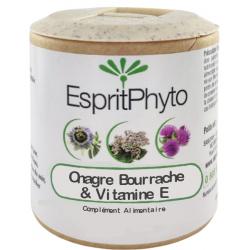 Huiles Onagre Bourrache Vitamine E 60 capsules de 500mg - EspritPhyto