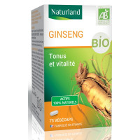 Panax Ginseng bio 75 géluless Naturland,   Vitalité - Tonus - Sportifs,  Compléments alimentaires Aromatic provence