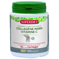 Collagène marin et Vitamine C 180 comprimés de 480mg - Super Diet