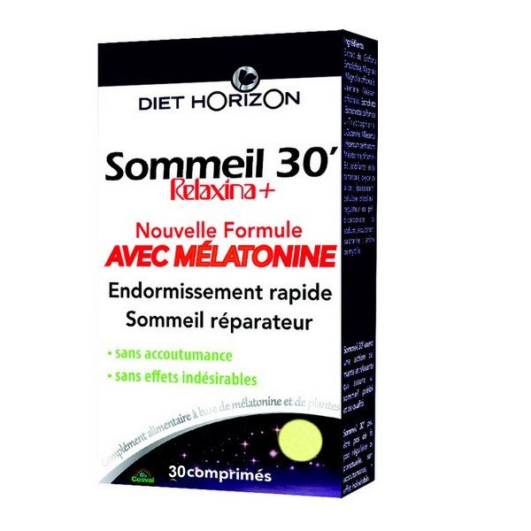 Sommeil 30' avec mélatonine 30 comprimés - Diet Horizon