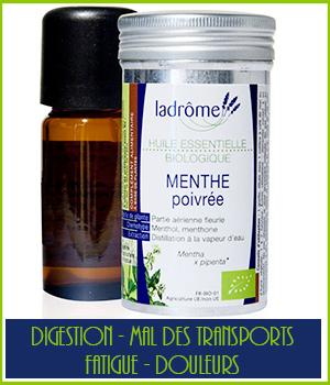 Huile essentielle bio Menthe poivrée - Ladrôme