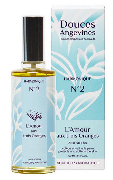 """huile corporelle """"l'amour aux 3 oranges"""" Douces Angevines"""