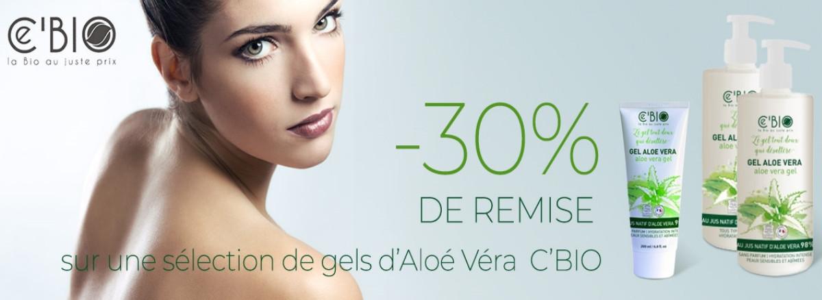 -30% sur la gamme c'bio gel d'aloe vera 98%