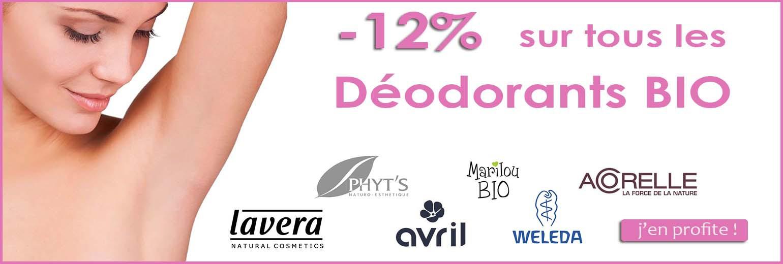 -12% sur tous les déodorants bio