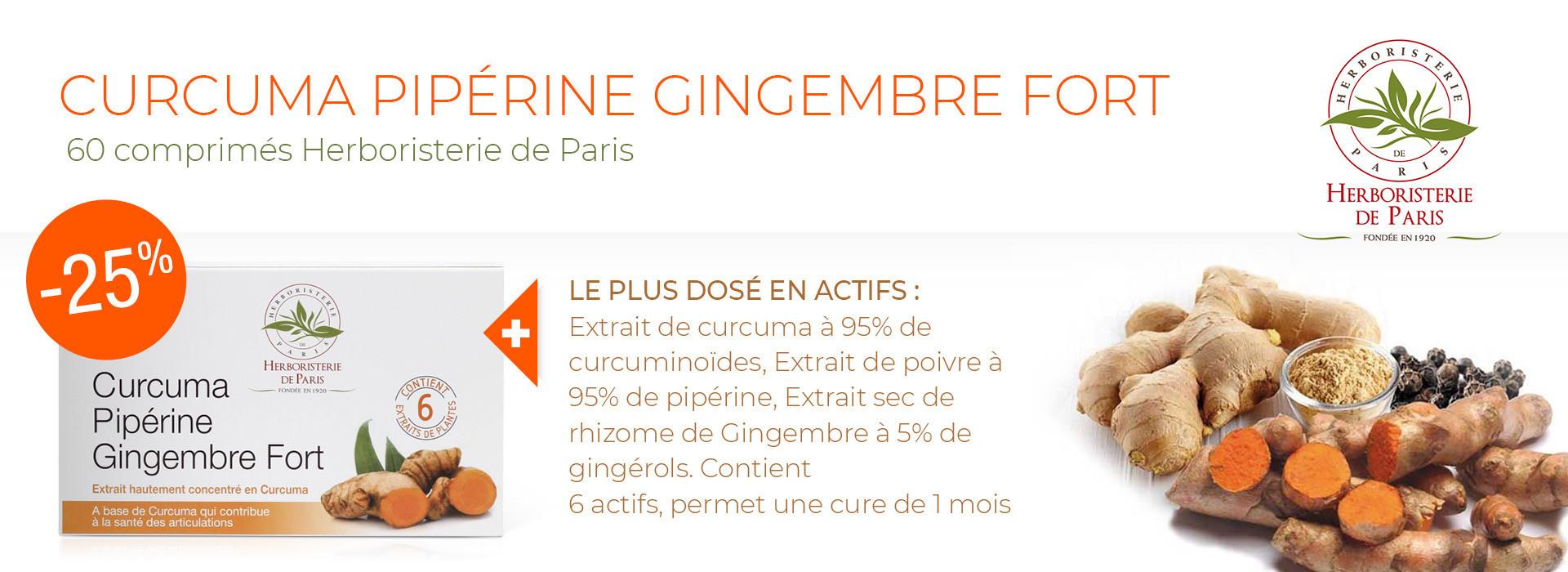 curcuma pipérine gingembre
