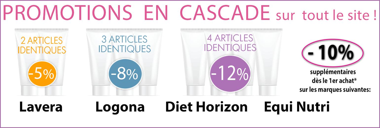 promotions supplémentaires -10% sur Lavera, Logona, Diet Horizon et Equi Nutri