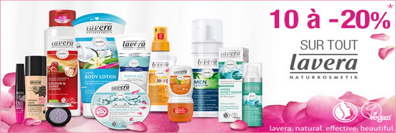 Promotions en cascade Lavera natural cosmetics
