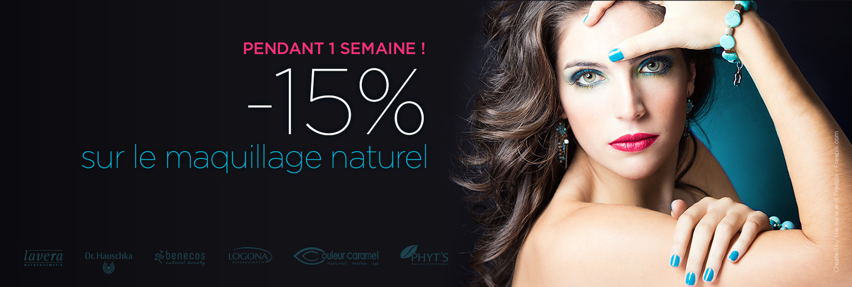 Le maquillage naturel à -15% pendant 1 semaine !