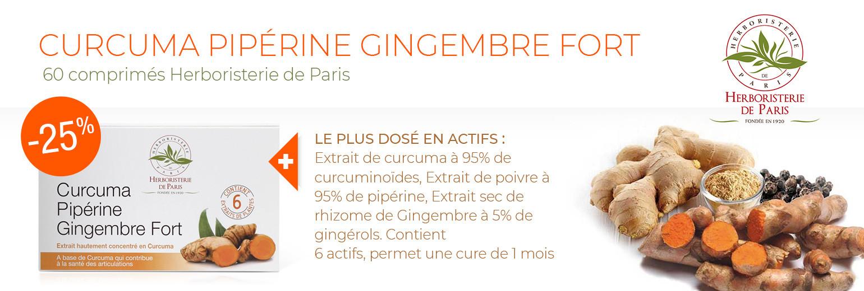 Offre d'essai -25% Curcuma Pipérine Gingembre Fort