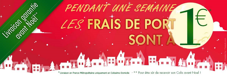 frais de port à 1 euro pour les fêtes de Noel 18!