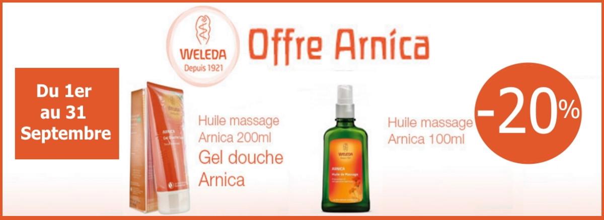 -20% sur la gamme arnica de Weleda