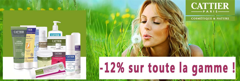 Cattier cosmétique bio -12%