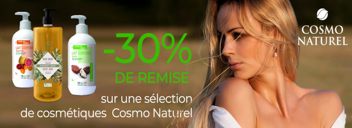 -30% sur une selection cosmo naturel